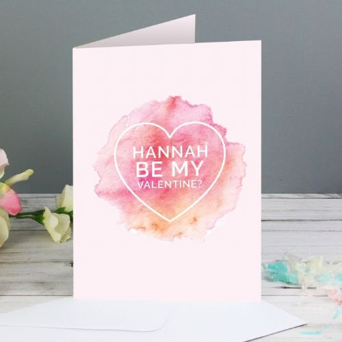Be My Valentine Heart Card